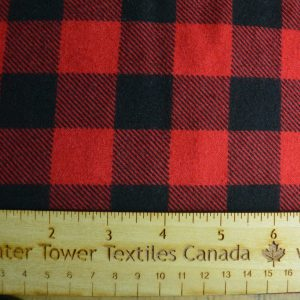 Buffalo Plaid Flannel, Red - 1/2 Meter