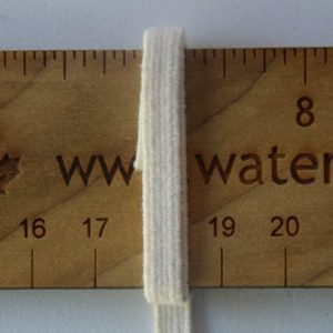 1/4″ (6 mm) Swim Elastic, Cotton, Natural – 1 Meter