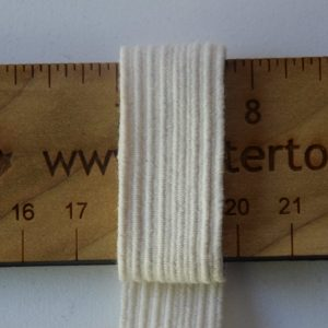 "3/4"" (19 mm) Swim Elastic, Cotton, Natural - 1 meter"