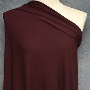 Double Brushed Poly Spandex, DARK RAISIN FLAWED - 1/2 meter