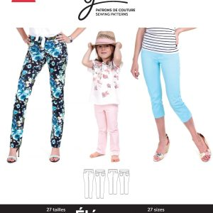 Jalie Paper Pattern 3461, Eleonore Pull-On Jeans