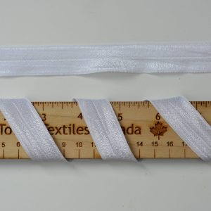 "Fold-Over Elastic 3/4"" White - 1 meter"