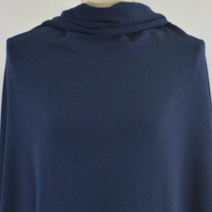 Bamboo Stretch French Terry, Navy - 1/2 meter