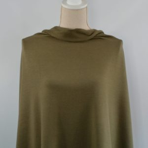 Bamboo Stretch French Terry, Olive - 1/2 meter