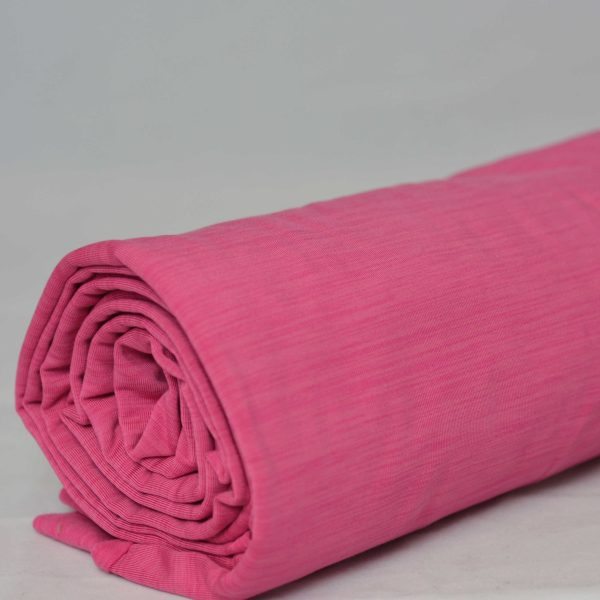 Fleece-Back Polyester Spandex, Heather Pink - 1/2 meter