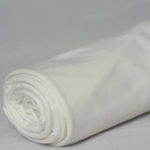 Fleece-Back Polyester Spandex, White - 1/2 meter