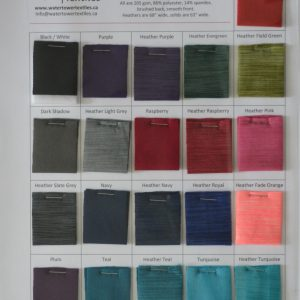 Swatch Card, Fleece-back Polyester Spandex LETTERMAIL