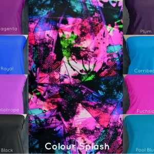 Nylon Spandex Swim Knit, Grunge Colour Splash - 1/2 meter