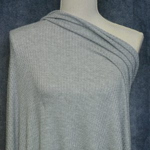 WAFFLE Knit, Heather Grey - 1/2 meter