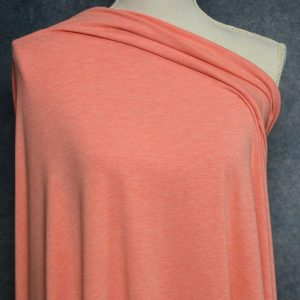 Bamboo Cotton Jersey, Heather Peach - 1/2 meter