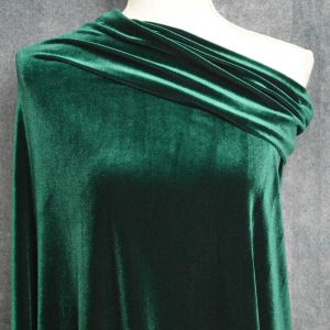 Stretch Velvet, Hunter Green - 1/2 meter