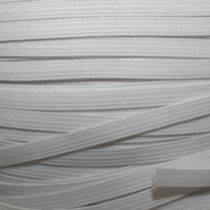 "1/4"" (6 mm) Elastic, White - 1 meter"
