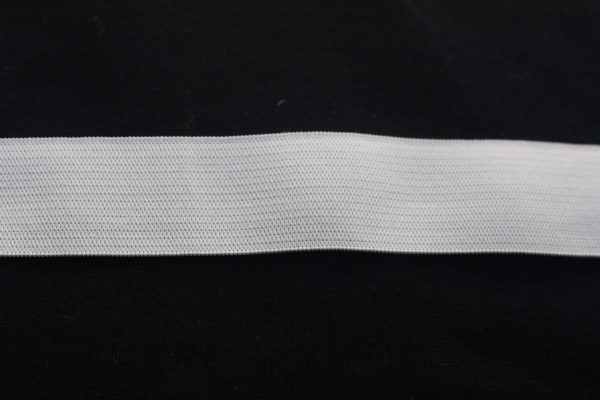 "1"" (25 mm) Elastic White - 1 meter"