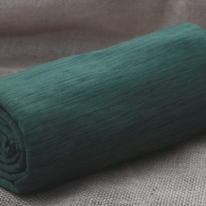 Fleece-Back Polyester Spandex, Heather Evergreen - 1/2 meter