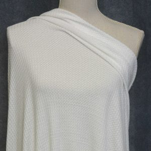 WAFFLE Knit, Ivory - 1/2 meter