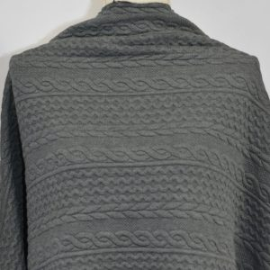 Cable Jacquard Knit, Dark Grey - 1/2 meter
