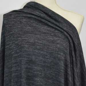 Melange Sweater Knit, Black Moonstone - 1/2 meter