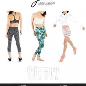 Jalie Paper Pattern 3887, Clara High-Waisted Leggings