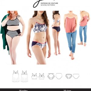 Jalie Paper Pattern 3886, Julia Camisole Bralette and Panties
