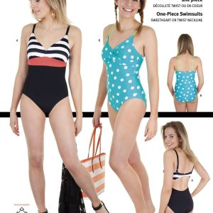 Jalie Paper Pattern 3350, One-Piece Swimsuits