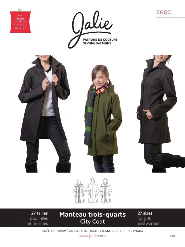 Jalie Paper Pattern 2680, Stretch City Coat