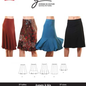 Jalie Paper Pattern 2681, Knit Gored Skirts