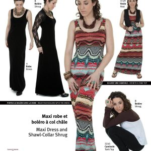 Jalie Paper Pattern 3246, Maxi Dress and Shawl-Collar Shrug