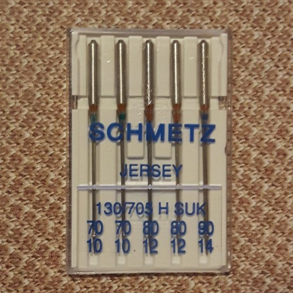 Schmetz Jersey/Ball Point Needles, size 70/80/90, 5 count