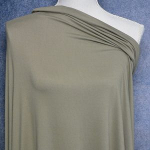 Double Brushed Poly Spandex, KHAKI OLIVE - 1/2 meter