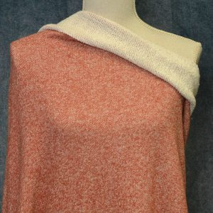 Large Loop Terry, Marled Burnt Orange - 1/2 meter