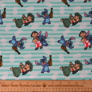 Cotton Spandex, Lilo and Stitch - 1/2 meter