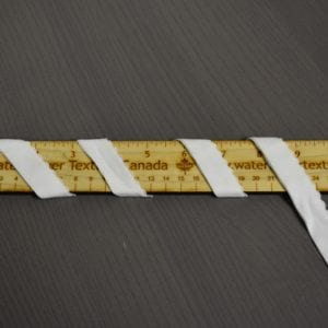 "3/4"" (19 mm) Scalloped Fold-Over Lingerie Elastic, Ivory - 1 meter"
