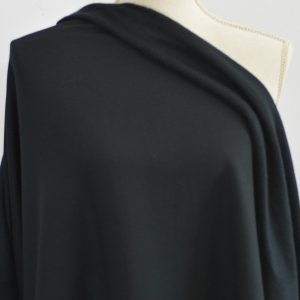 Bamboo MERINO Sweatshirt Fleece, Black - 1/2 meter