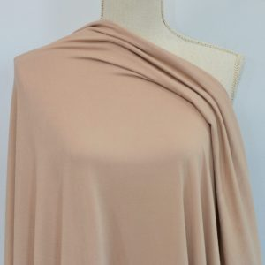 Double Brushed Poly Spandex, TAN - 1/2 meter