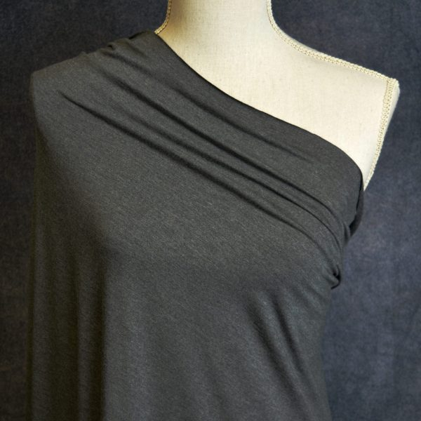 Nouvel Bamboo Rayon Spandex, Charcoal Mix - 1/2 meter