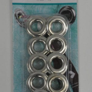 Grommets 11mm (wide - old style), Silver - Pkg of 15
