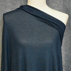 WAFFLE Knit, Navy - 1/2 meter