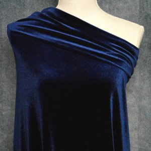 Stretch Velvet, Navy - 1/2 meter