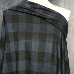 Double Knit Jacquard, NAVY Buffalo Plaid - 1/2 meter
