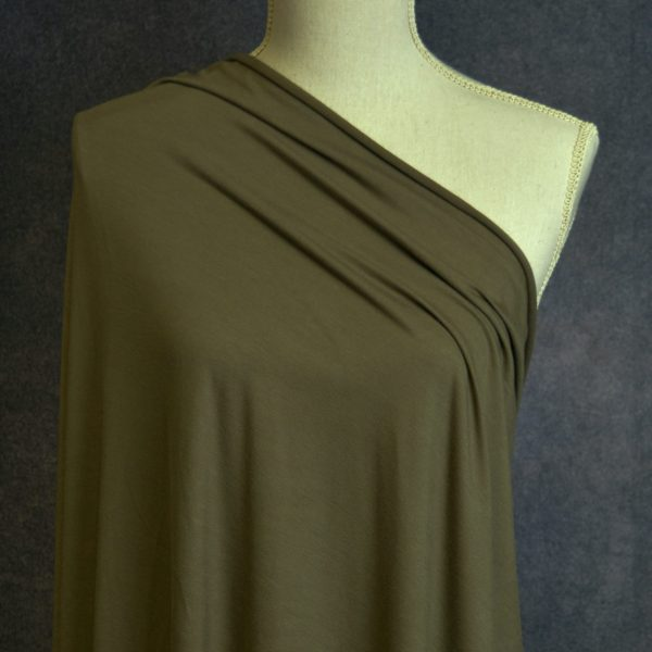 Nouvel Bamboo Rayon Spandex, Olive - 1/2 meter