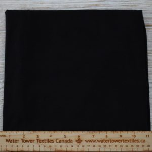 Organic Cotton Spandex, 155 gsm, Black - 1/2 meter