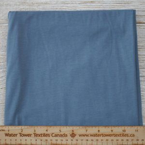 Organic Cotton Spandex, 155 gsm, Steel Blue - 1/2 meter