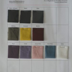 Swatch Card, Organic Cotton Spandex