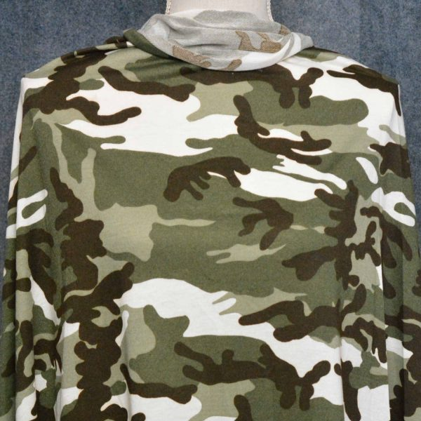 French Terry, Olive/White Camo - 1/2 meter