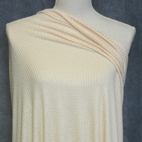WAFFLE Knit, Peaches and Cream (Limited) - 1/2 meter