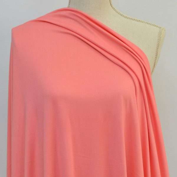 Double Brushed Poly Spandex, PINK SORBET - 1/2 meter (NC)