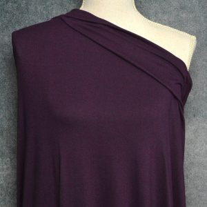 Double Brushed Poly Spandex, PLUM - 1/2 meter