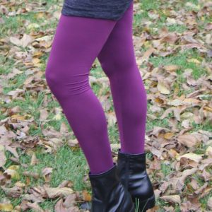 Fleece-Back Polyester Spandex, Plum - 1/2 meter