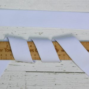 "Plush-Back Elastic, 1.37"" White - 1 meter"