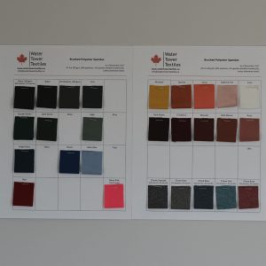 Swatch Card, Brushed Polyester Spandex Solids LETTERMAIL